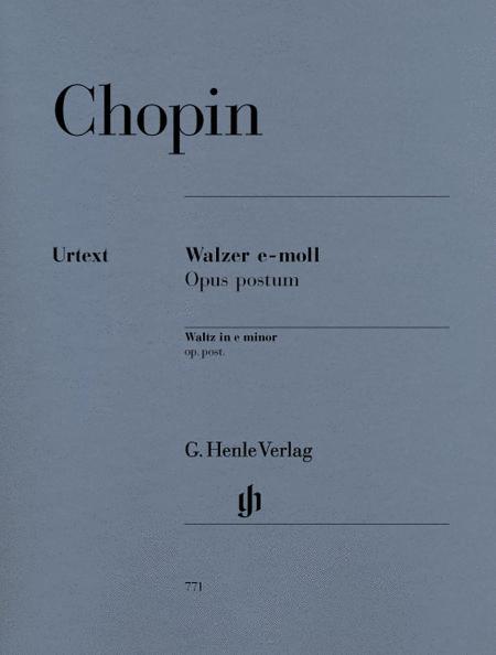 Waltz in E minor Op. Posth.