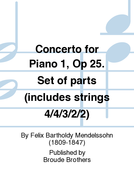 Concerto for Piano 1, Op 25. Set of parts (includes strings 4/4/3/2/2)