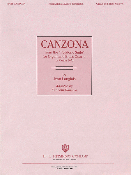 Canzona (from the Folkloric Suite)