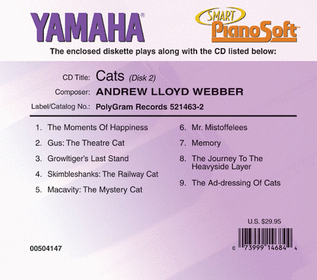Andrew Lloyd Webber - Cats - Piano Software