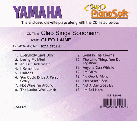 Cleo Laine - Cleo Sings Sondheim - Piano Software