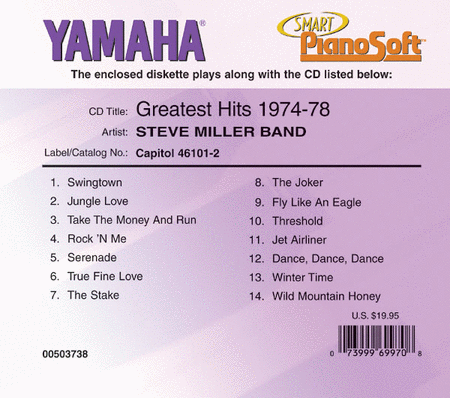 Steve Miller Band - Greatest Hits 1974-78 - Piano Software