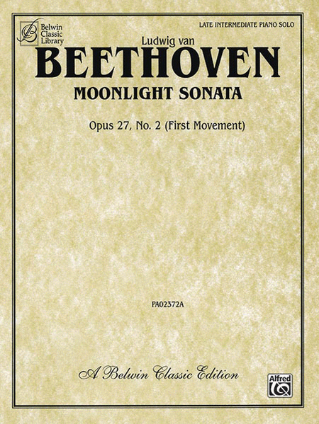 Moonlight Sonata, Op. 27, No. 2 (First Movement)