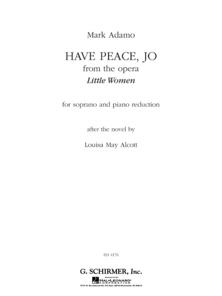 Have Peace, Jo (from the Opera Little Women)