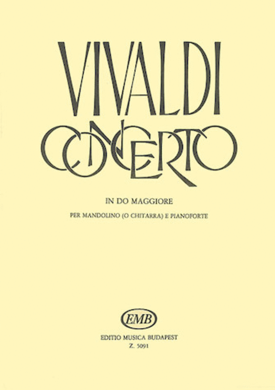 Concerto In C Major for Mandolin (or Guitar), Strings, and Continuo RV425   Piano Reduction
