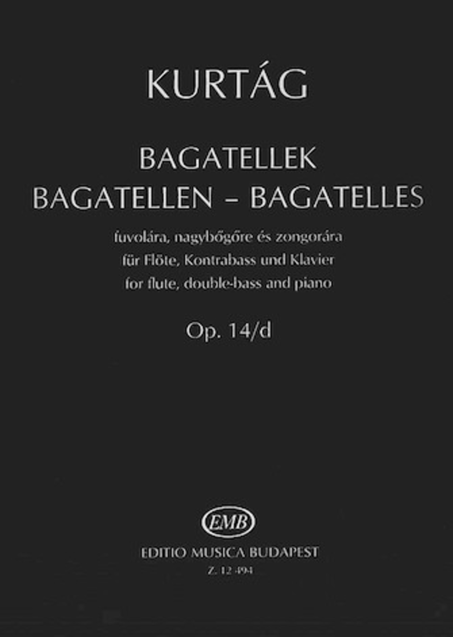 Bagatelles for Flute, Double Bass and Piano, Op. 14d