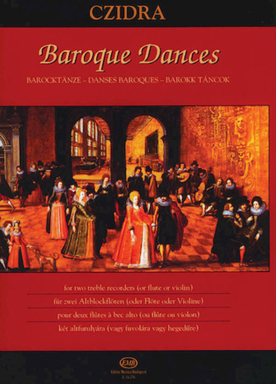 Baroque Dances for Two Treble Recorders or Two Flutes or Two Violins