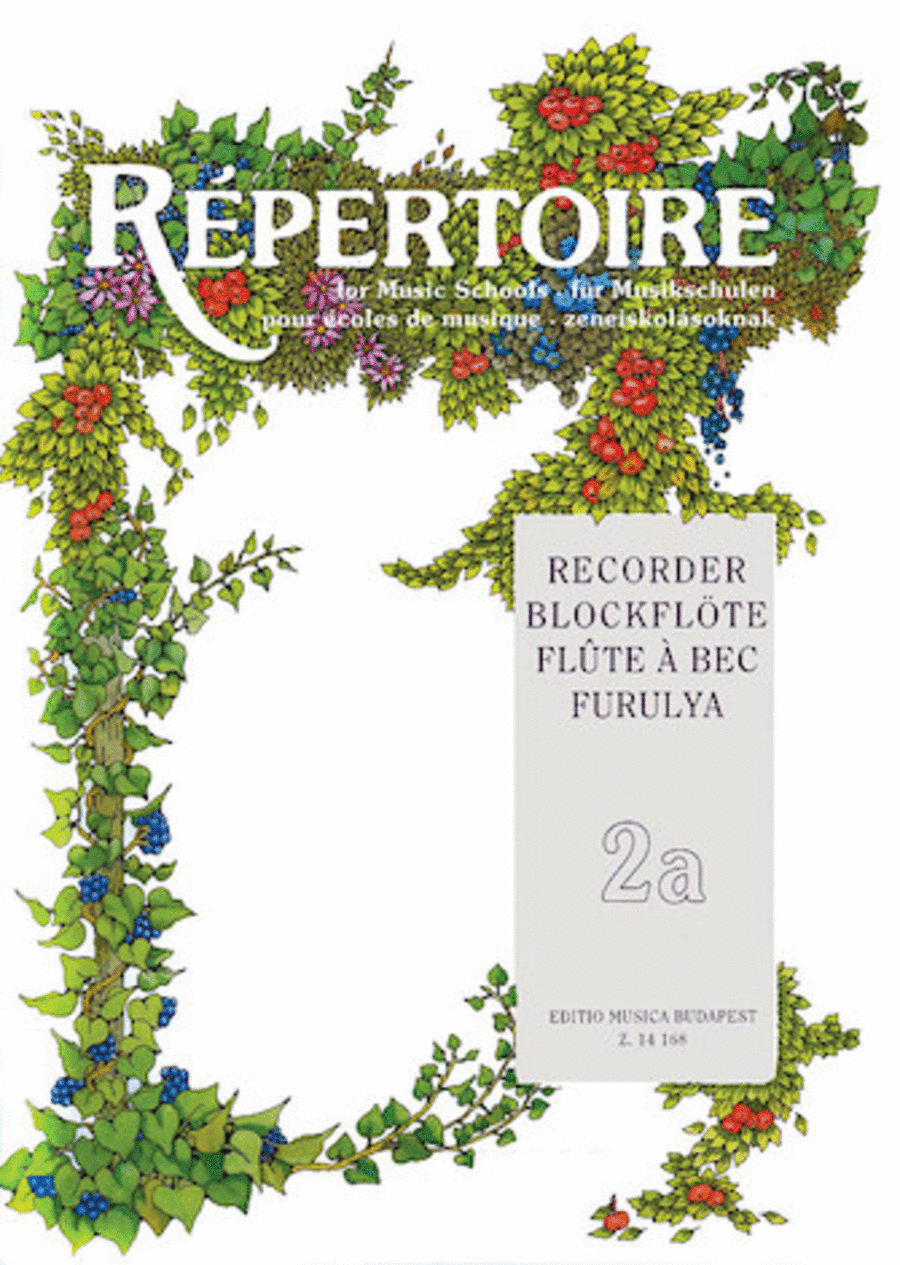 Repertoire for the Recorder - Volume 2A