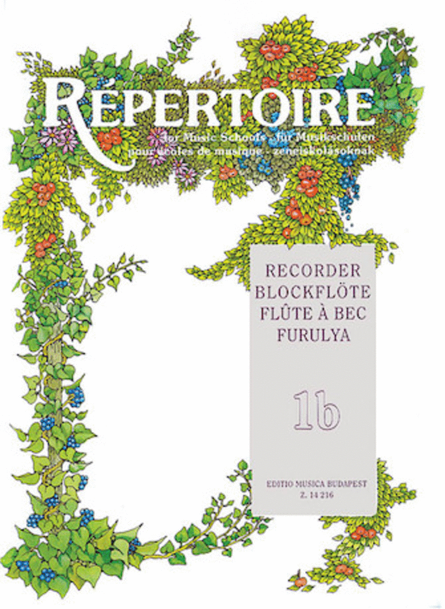 Repertoire for the Recorder - Volume 1B