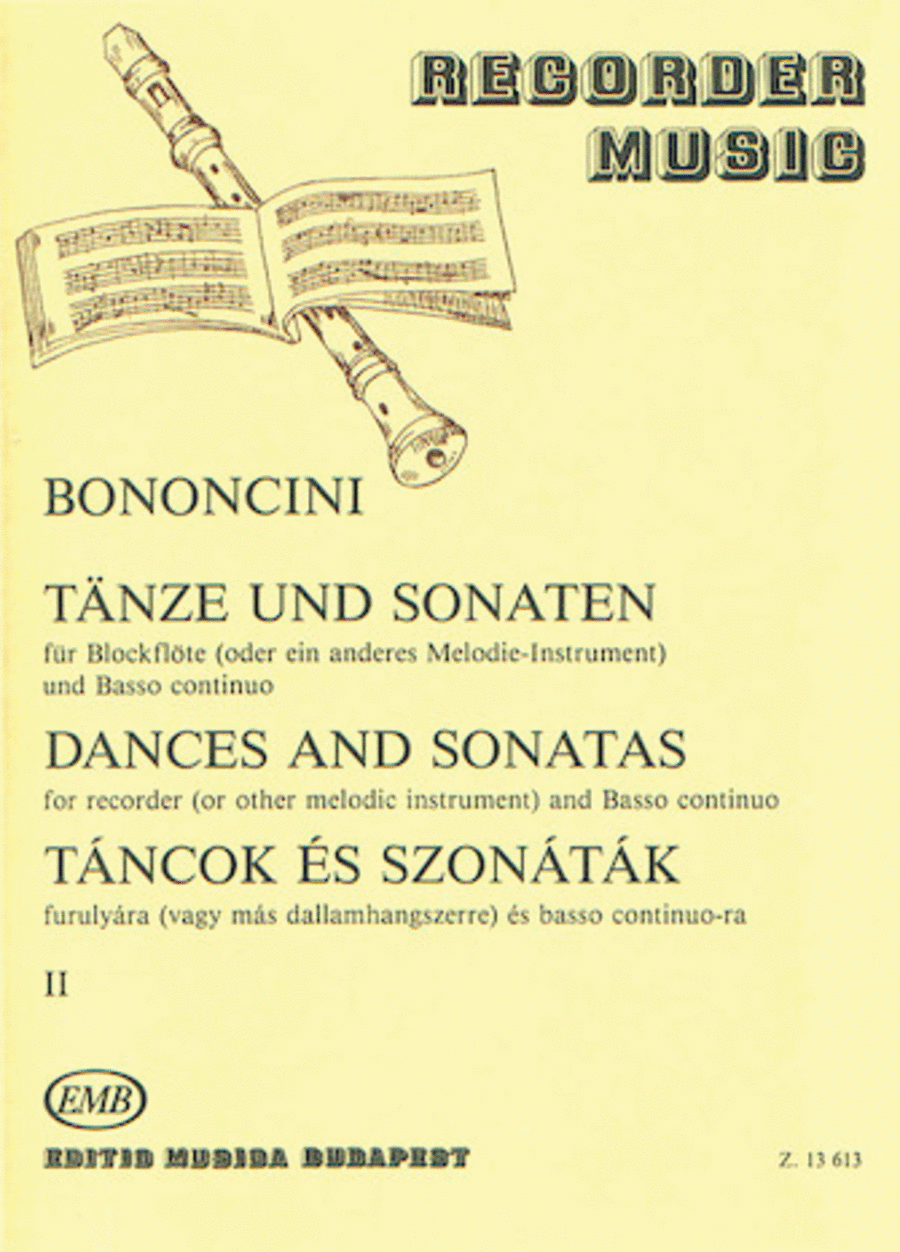Dances & Sonatas for Recorder (or Other Melodic Instruments)