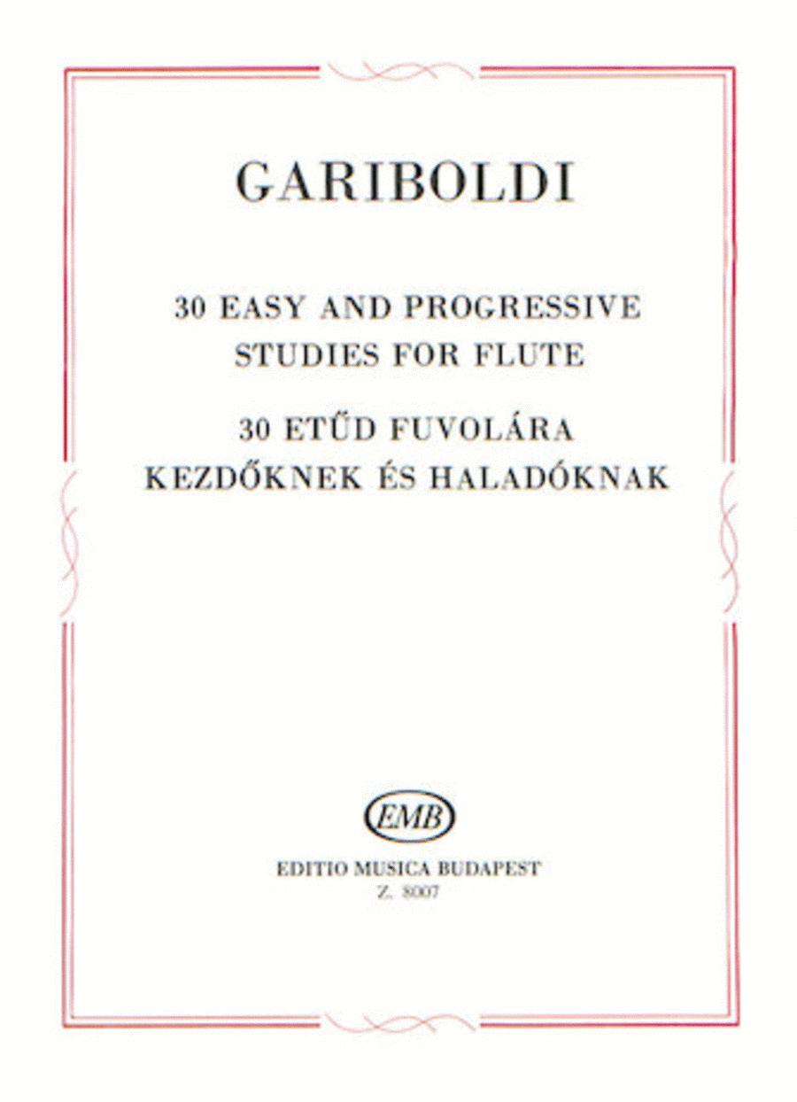 30 Easy and Progressive Studies for Flute