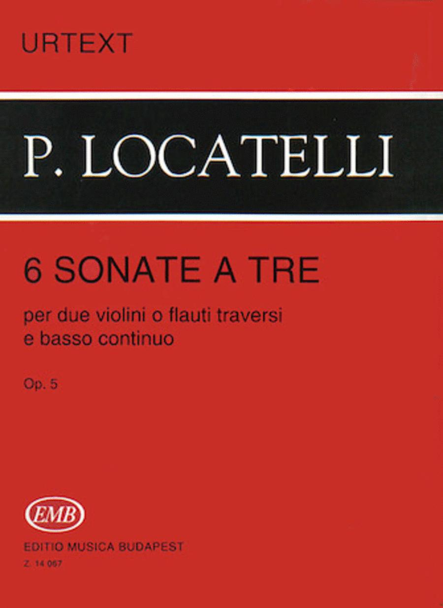 6 Sonatas à tre per due violini o flauti traversi e basso continuo, Op. 5