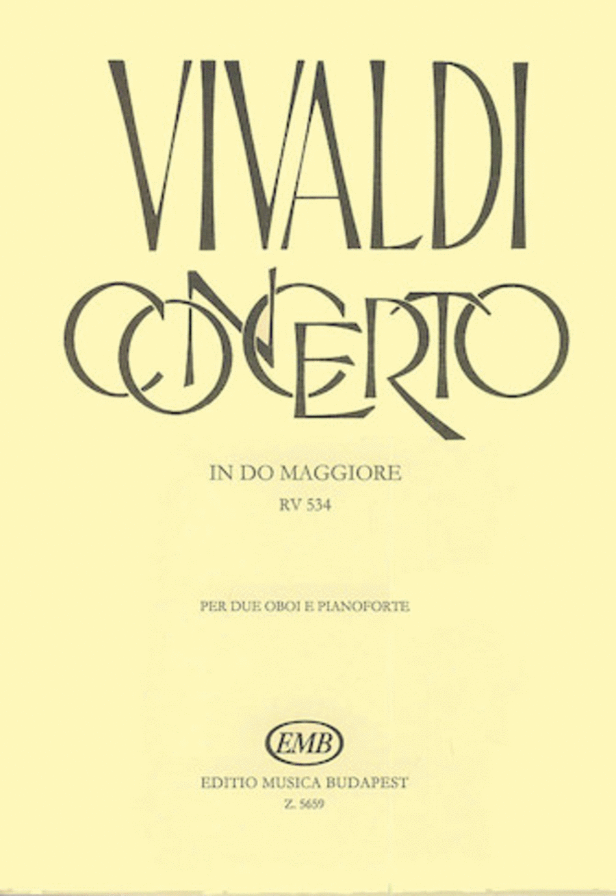 Concerto in C Major for 2 Oboes, Strings & Continuo, RV 534