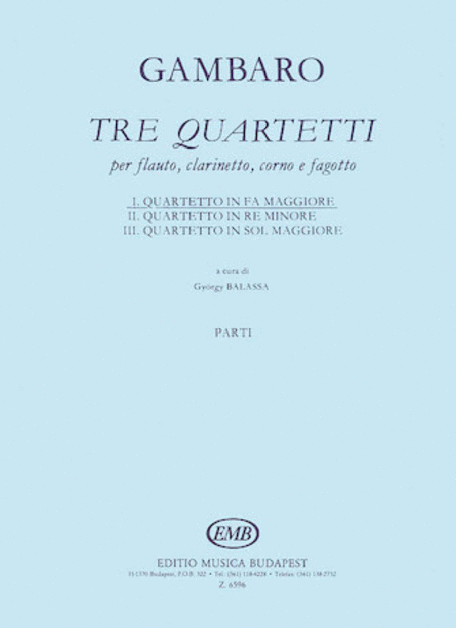 Quartet in F for Flute, Clarinet, Horn, Bassoon