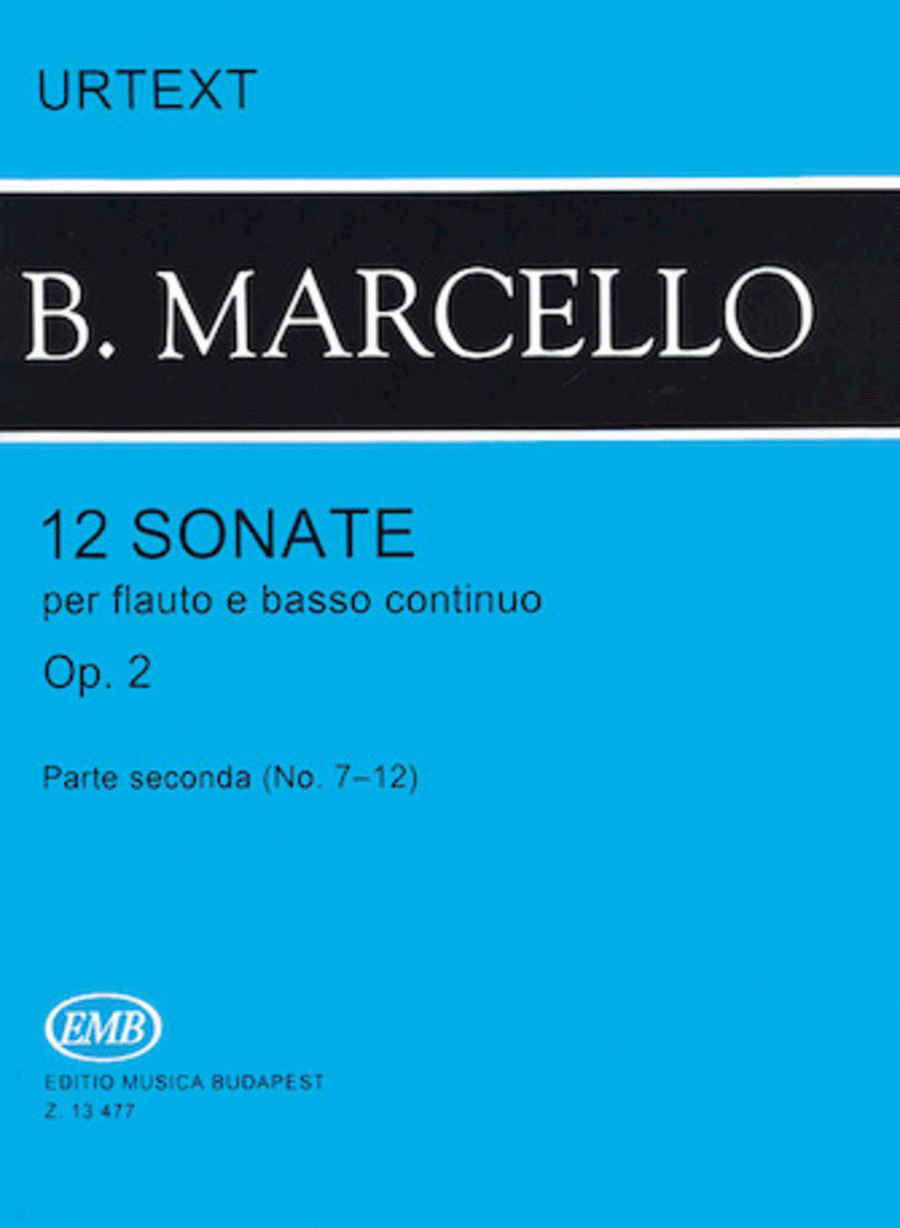 12 Sonatas for Flute and Basso Continuo, Op. 2 - Volume 2