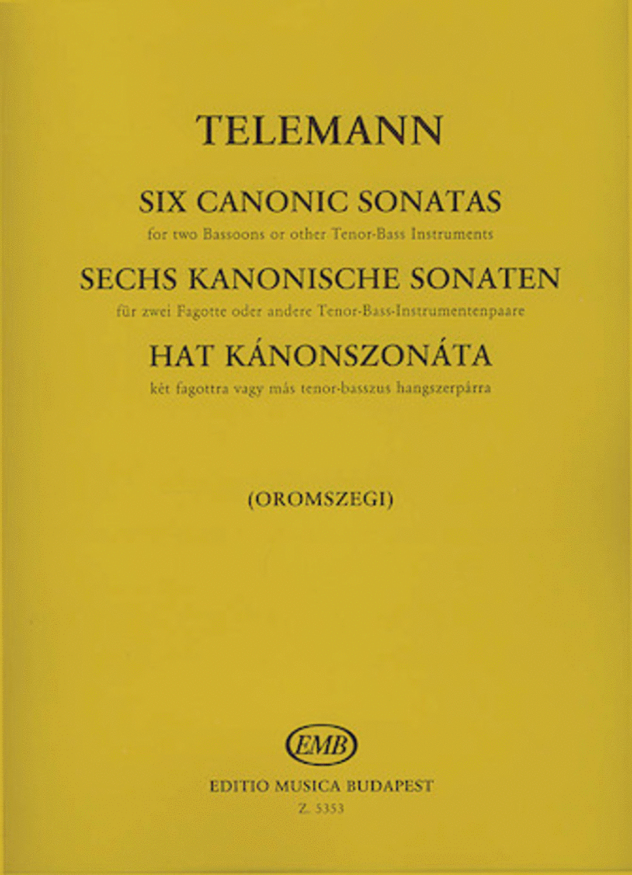 Six Canon Sonatas for Two Bassoons