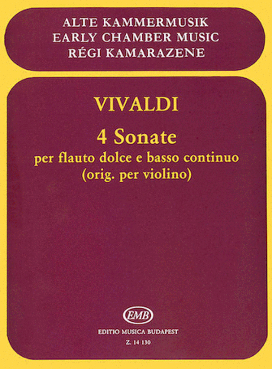 4 Sonatas for Recorder and Basso Continuo, RV 8, 23, 27, 36