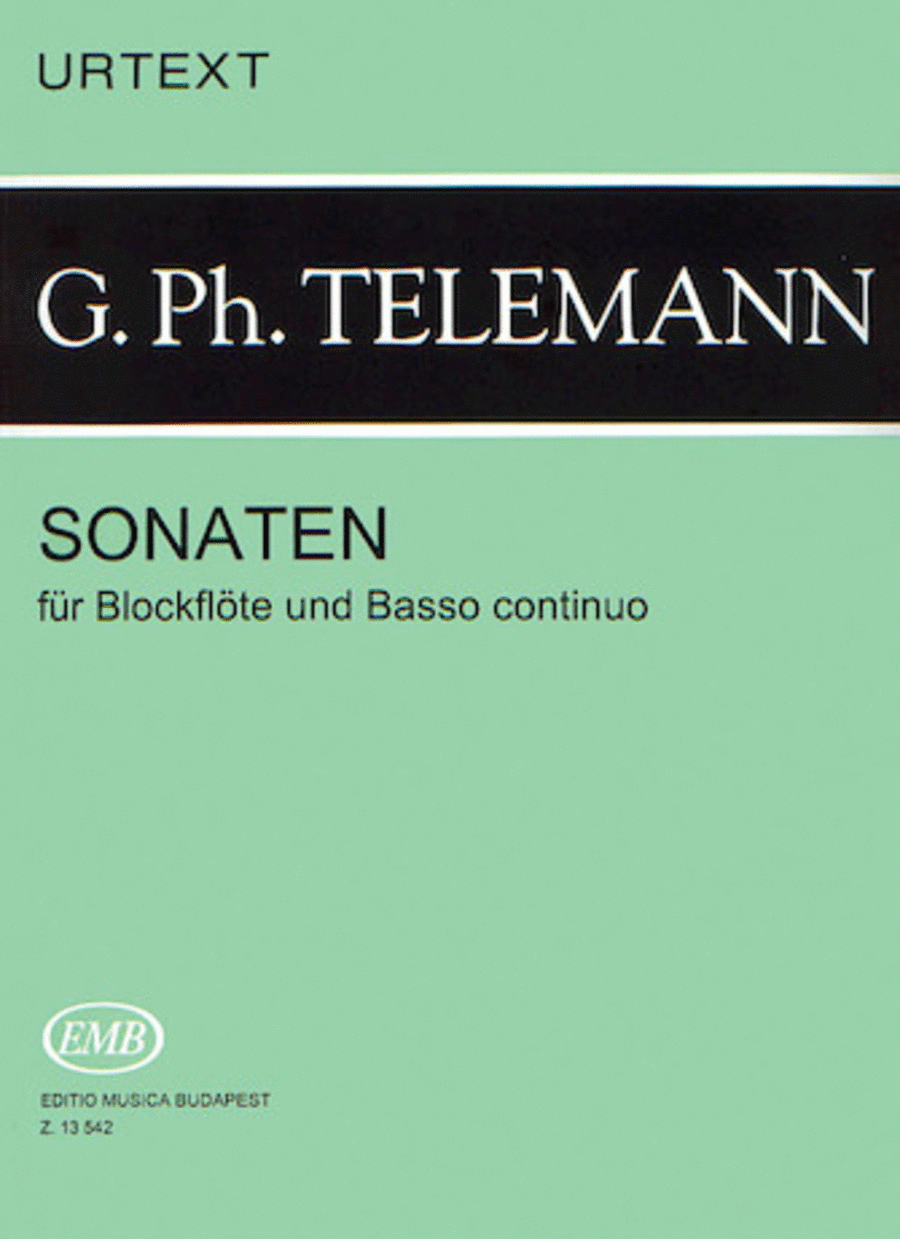 Sonatas for Recorder and Basso Continuo