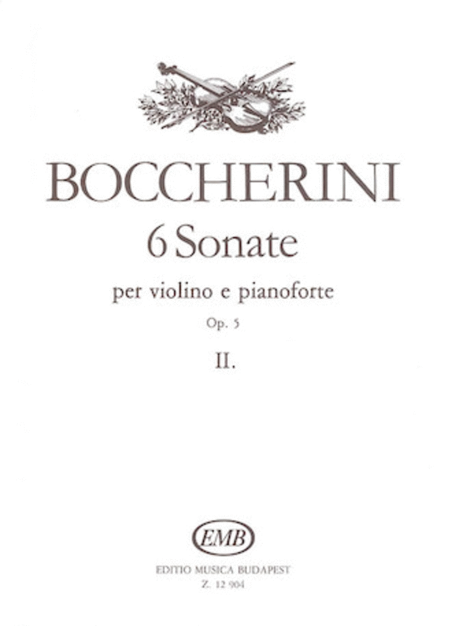 Six Sonatas for Violin and Piano, Op. 5 - Volume 2