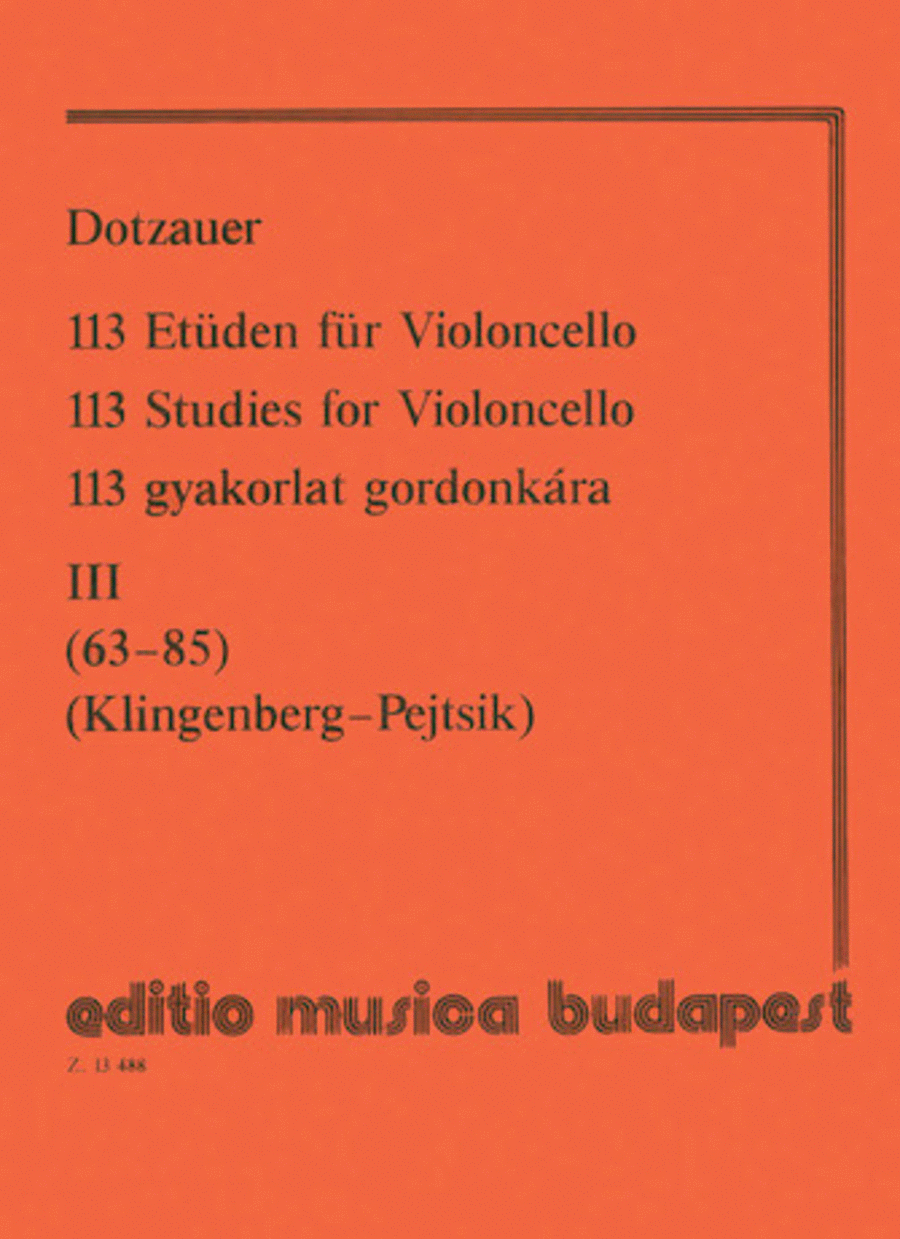113 Studies - Volume 3