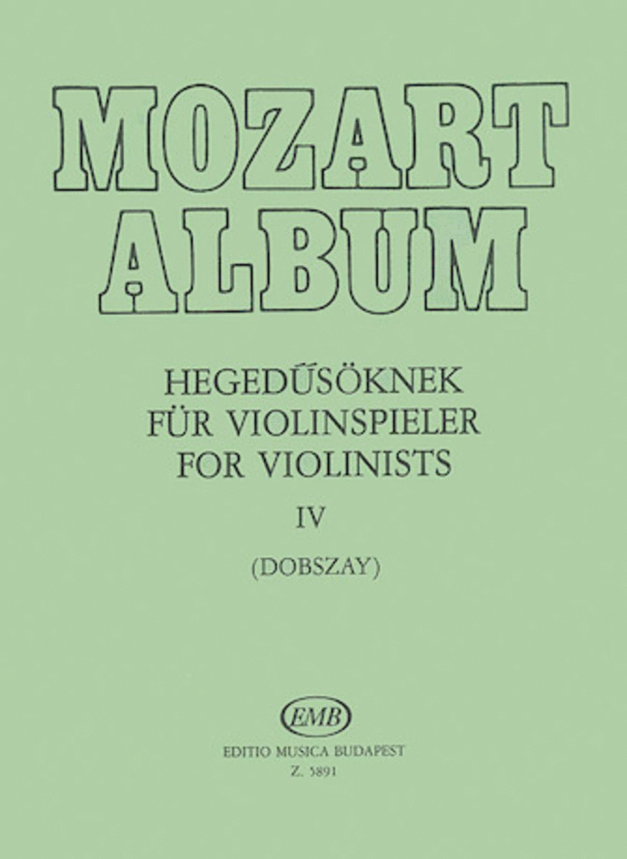 Album for Violin - Volume 4 Adagio & Andante Movements