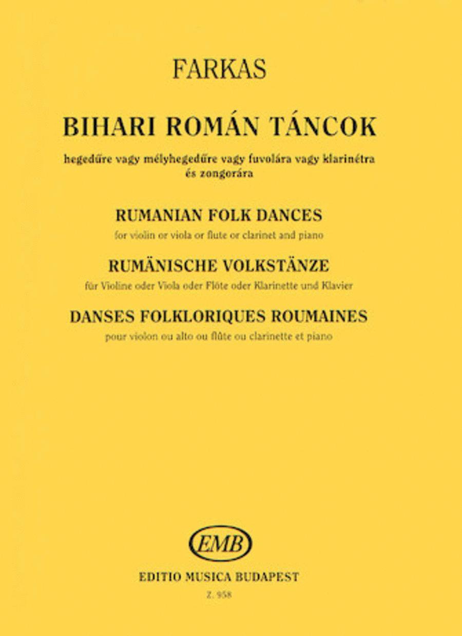 Rumanian Folk Dances from the County of Bihar
