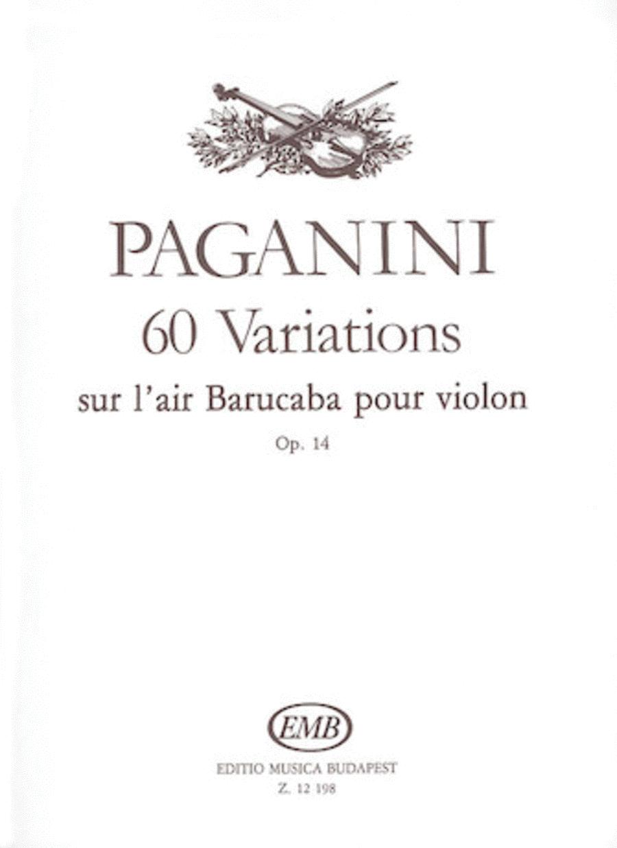 60 Variations sur l'air Barucaba, Op. 14
