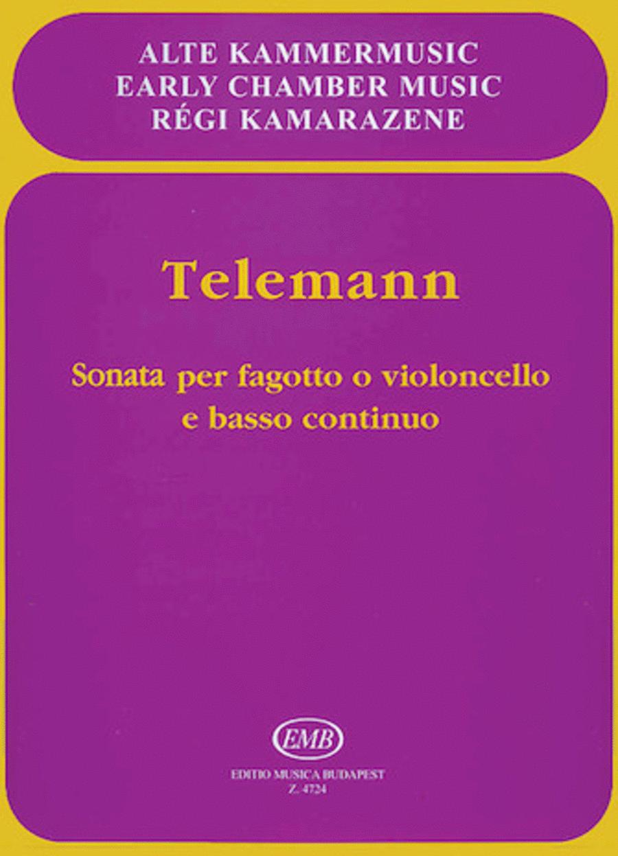 Sonata in E flat Major for Bassoon or Violoncello and Basso Continuo