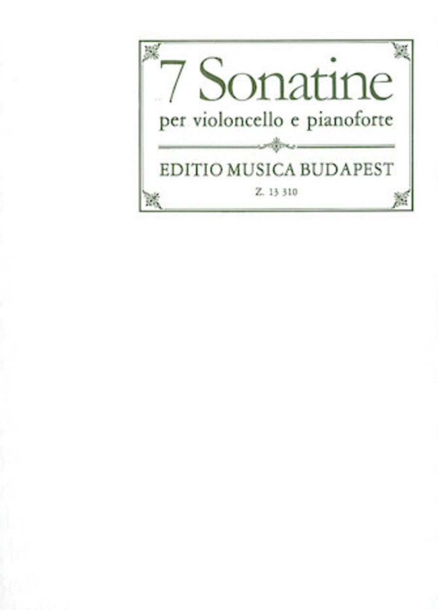 7 Sonatinas for Violoncello and Piano