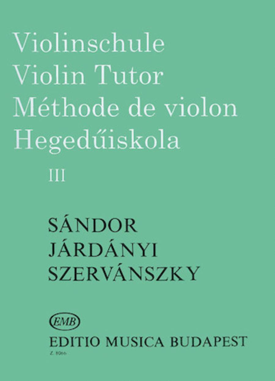 Violin Tutor - Volume 3