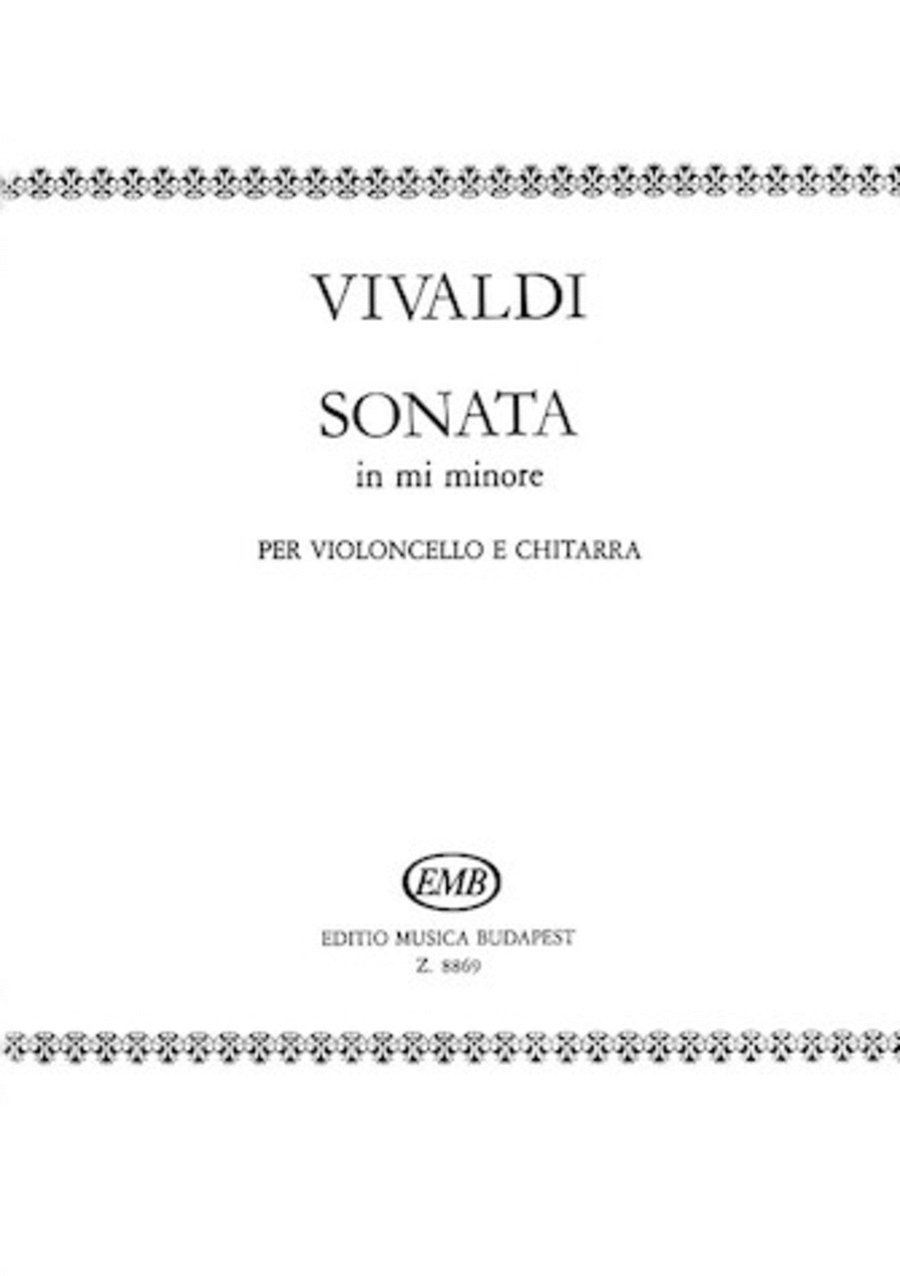 Sonata in E minor for Cello and Guitar RV40
