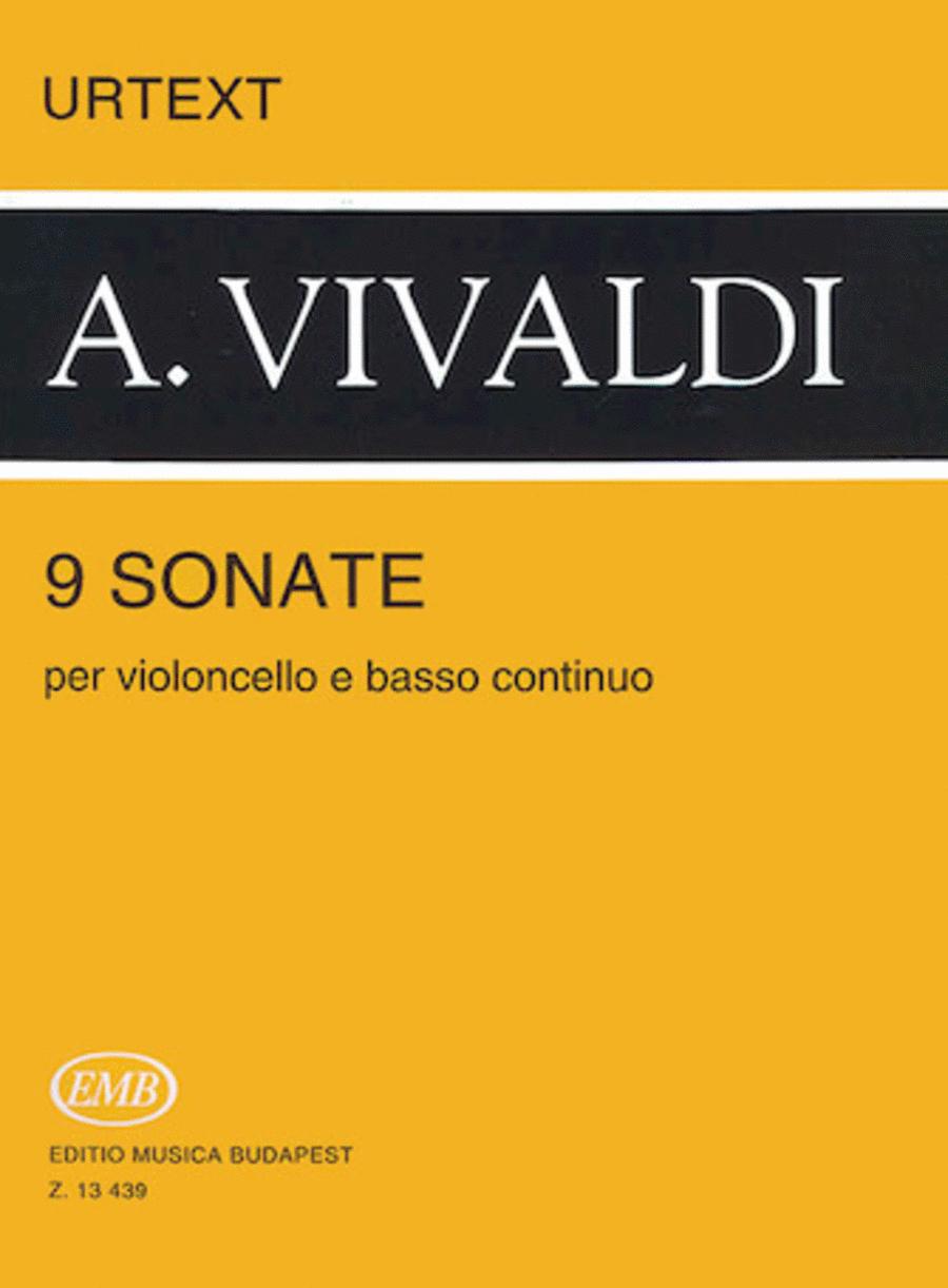 9 Sonatas for Violoncello and Basso Continuo, RV 39-47