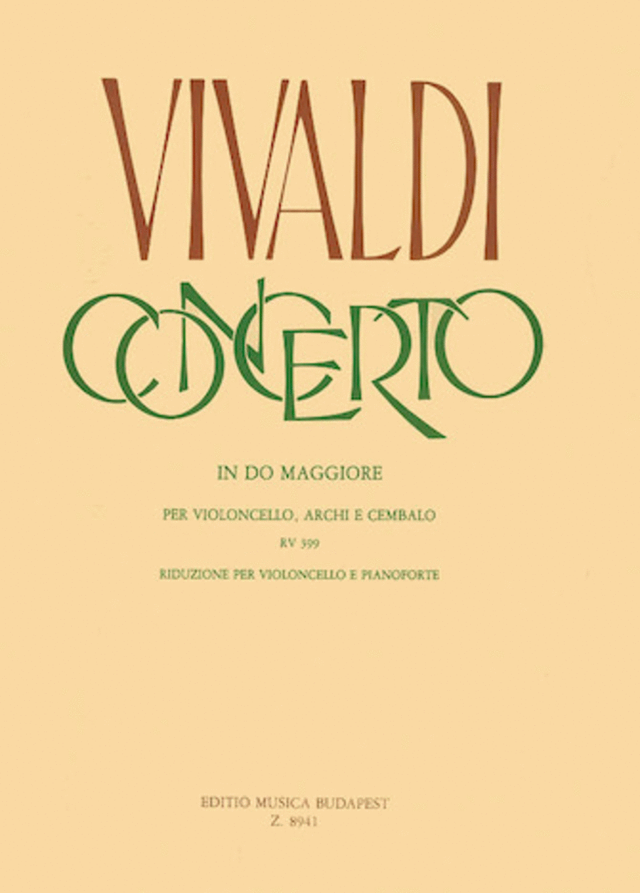 Concerto in C for Violoncello, Strings and Cembalo, RV 399