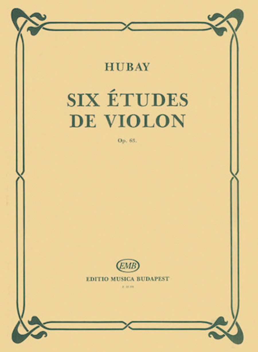Six Etudes for Violin, op. 63