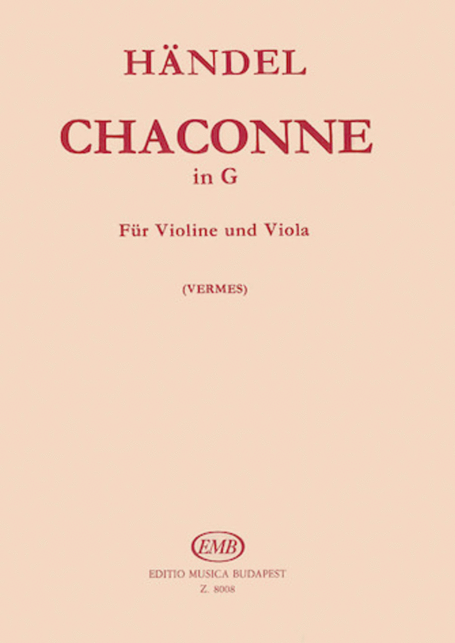 Chaconne in G for Violin and Viola