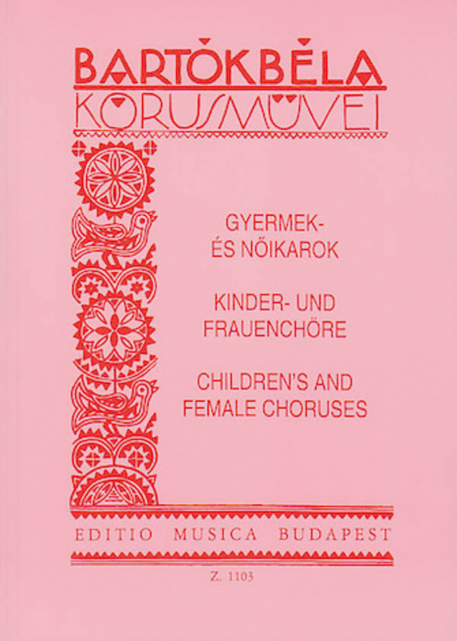Choral Works for Children's and Female Voices
