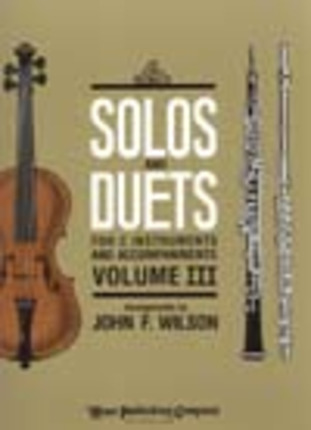 Solos and Duets - for C Instruments and Accompaniments (Volume III)
