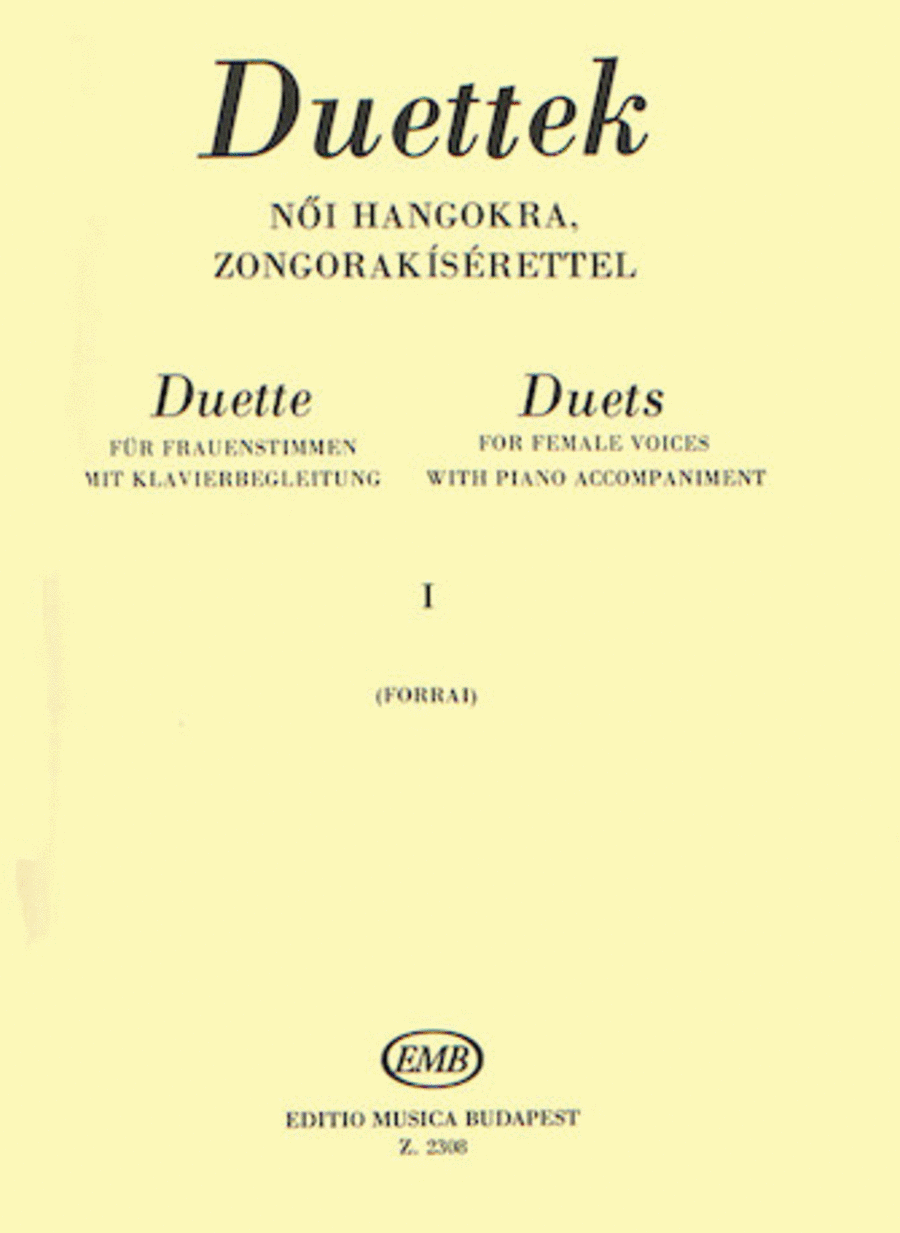 Duets for Female Voices - Volume 1: From Carissimi to Beethoven