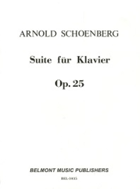 Suite for Piano, Op. 25