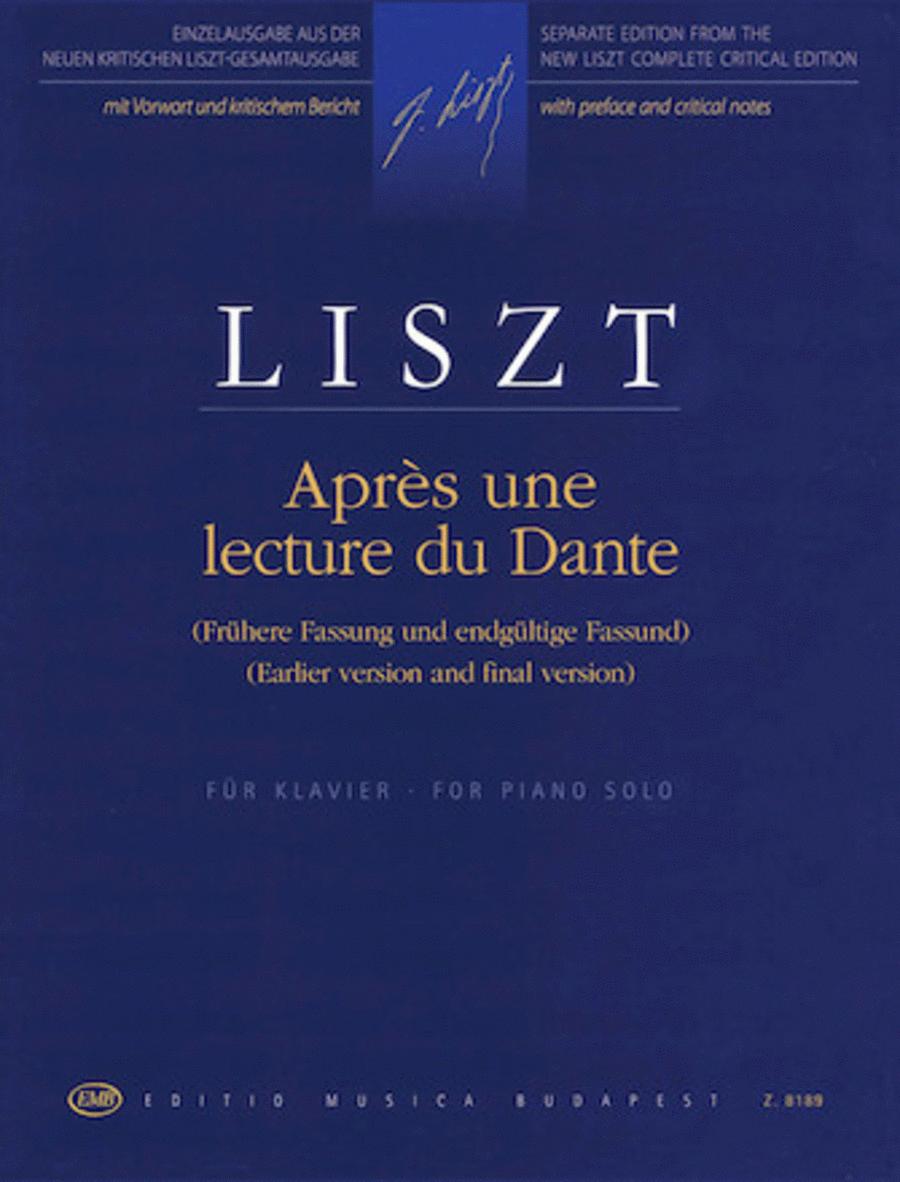 Apres une Lecture de Dante from Annees de pelerinage