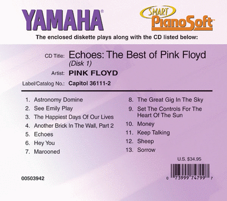 Pink Floyd - Echoes: The Best of Pink Floyd (2-Disc Set) - Piano Software