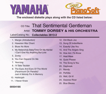 Tommy Dorsey & His Orchestra - That Sentimental Gentleman - Piano Software