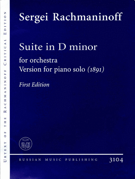 Suite in D minor for orchestra (1891)