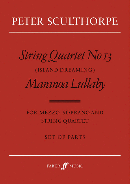 String Quartet No. 13 - Parts