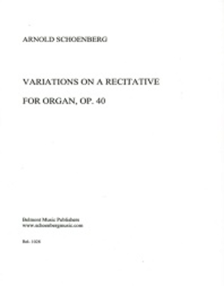 Variations for Organ, Op. 40