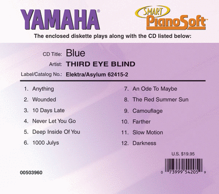 Third Eye Blind - Blue - Piano Software