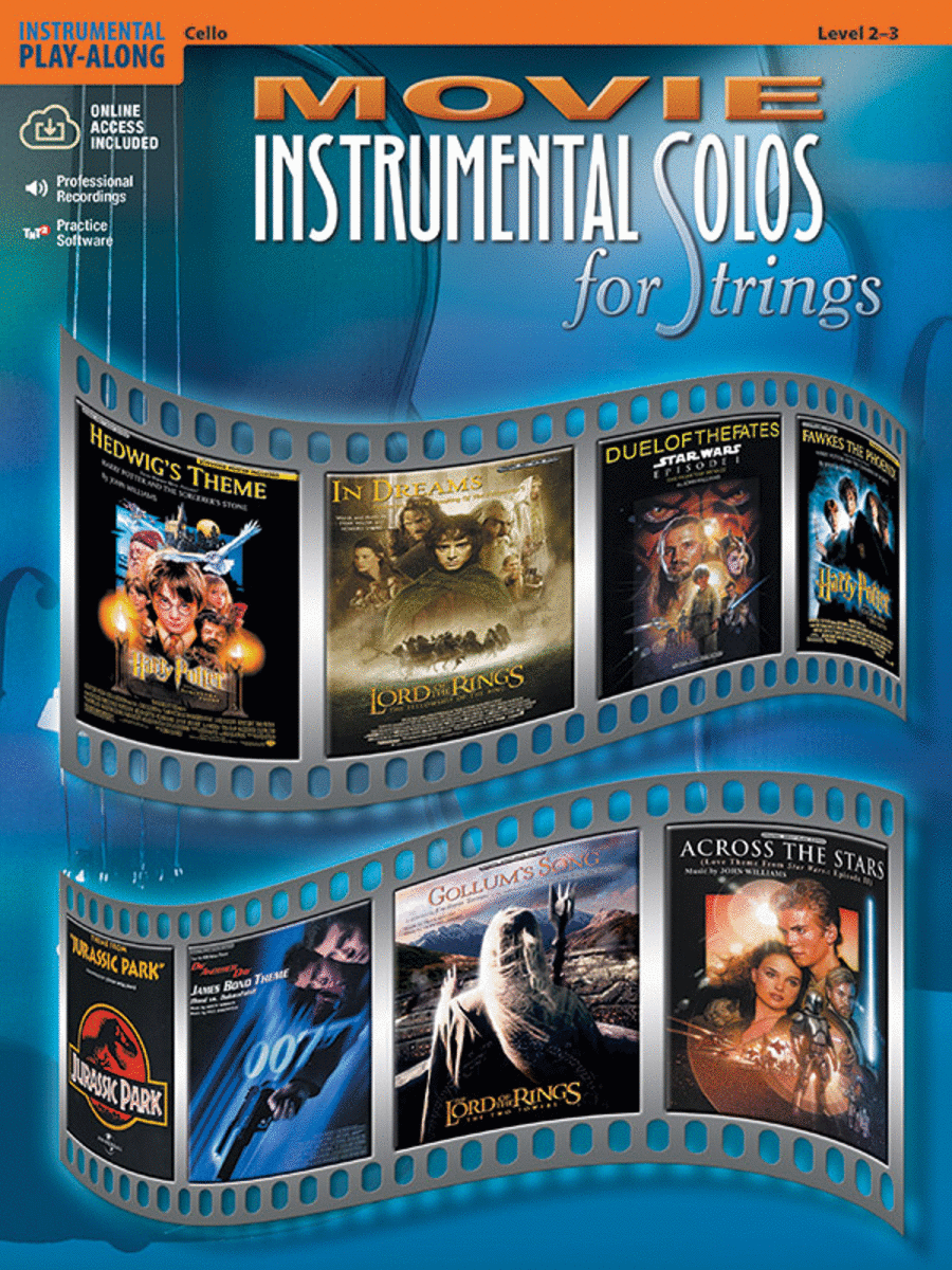 Movie Instrumental Solos for Strings - Cello (Book and CD)