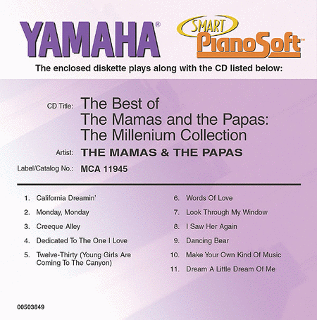 The Best of The Mamas & The Papas - The Millennium Collection - Piano Software