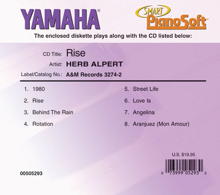 Herb Alpert - Rise - Piano Software