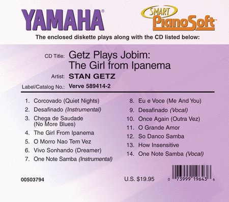 Getz Plays Jobim: The Girl from Ipanema - Piano Software